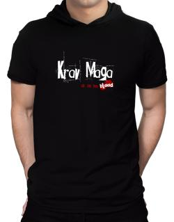 Krav Maga Is In My Blood Hooded T-Shirt - Mens