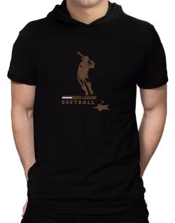 Beer League : Softball - Drunk's Tee Hooded T-Shirt - Mens