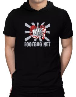 Footbag Net Fist Hooded T-Shirt - Mens