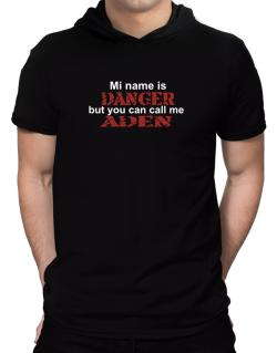 My Name Is Danger But You Can Call Me Aden Hooded T-Shirt - Mens