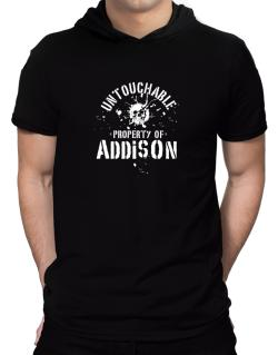 Untouchable : Property Of Addison Hooded T-Shirt - Mens