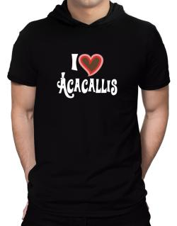I Love Acacallis Hooded T-Shirt - Mens