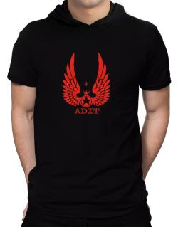 Adit - Wings Hooded T-Shirt - Mens
