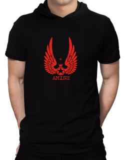 Amish - Wings Hooded T-Shirt - Mens