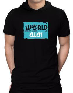 The World Revolves Around Ellen Hooded T-Shirt - Mens