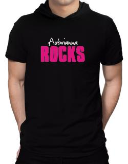 Aubrianna Rocks Hooded T-Shirt - Mens