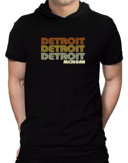 Detroit State Hooded T-Shirt - Mens