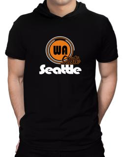 Seattle - State Hooded T-Shirt - Mens