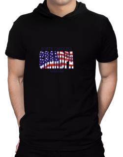 Grandpa Asheville - Us Flag Hooded T-Shirt - Mens