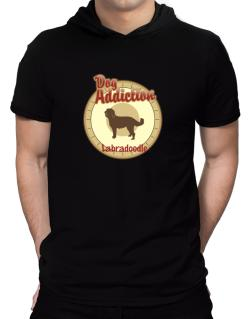 Dog Addiction : Labradoodle Hooded T-Shirt - Mens