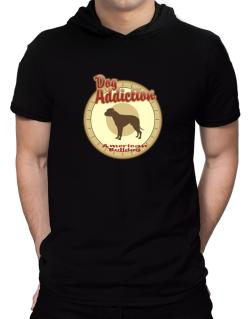 Dog Addiction : American Bulldog Hooded T-Shirt - Mens