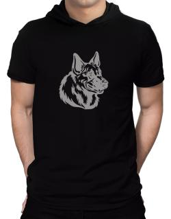 """ Belgian Malinois FACE SPECIAL GRAPHIC "" Hooded T-Shirt - Mens"