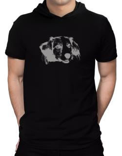 """ Kooikerhondje FACE SPECIAL GRAPHIC "" Hooded T-Shirt - Mens"