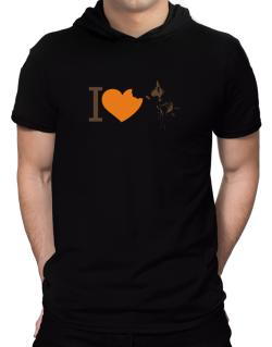 I love Australian Cattle Dogs Hooded T-Shirt - Mens