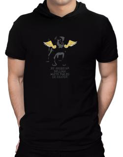 My American Bulldog Waits For Me In Heaven Hooded T-Shirt - Mens