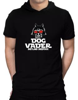 Dog Vader : Shetland Sheepdog Hooded T-Shirt - Mens