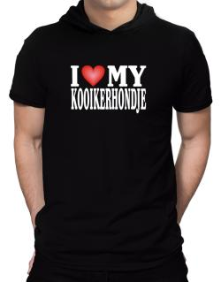 I Love Kooikerhondje Hooded T-Shirt - Mens