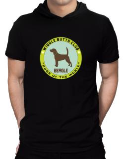 Beagle - Wiggle Butts Club Hooded T-Shirt - Mens
