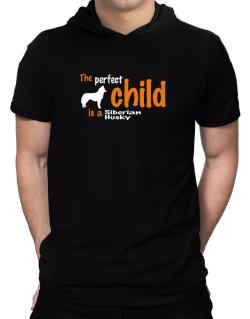 The Perfect Child Is A Siberian Husky Hooded T-Shirt - Mens