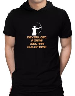 Archery Never Lost A Game Just Ran Out Of Time Hooded T-Shirt - Mens