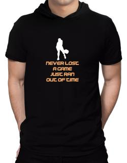 """"""" Pickleball NEVER LOST A GAME JUST RAN OUT OF TIME """" Hooded T-Shirt - Mens"""