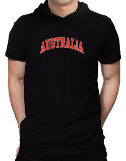Australia - Simple Hooded T-Shirt - Mens