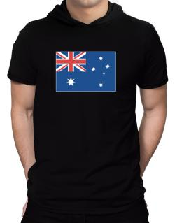 Australia Flag Hooded T-Shirt - Mens