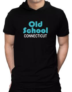 Old School Connecticut Hooded T-Shirt - Mens