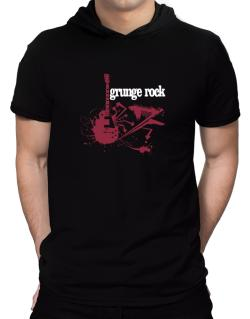 Grunge Rock - Feel The Music Hooded T-Shirt - Mens
