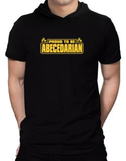 Proud To Be Abecedarian Hooded T-Shirt - Mens