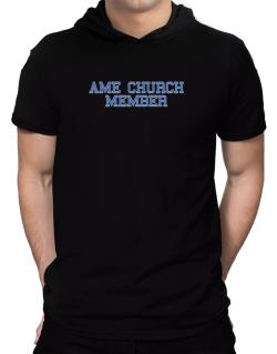 Ame Church Member - Simple Athletic Hooded T-Shirt - Mens