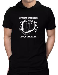 African Orthodox Power Hooded T-Shirt - Mens