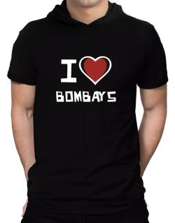 I Love Bombays Hooded T-Shirt - Mens