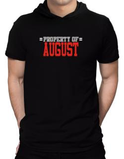 """ Property of August "" Hooded T-Shirt - Mens"