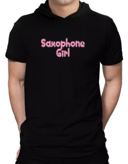 Saxophone Girl Hooded T-Shirt - Mens