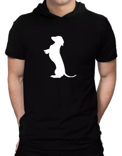 Begging Dachshund Hooded T-Shirt - Mens