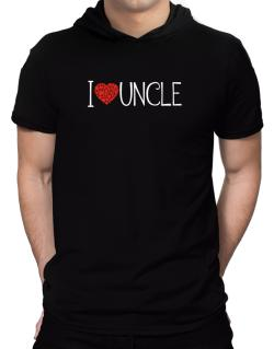 I love Auncle cool style Hooded T-Shirt - Mens