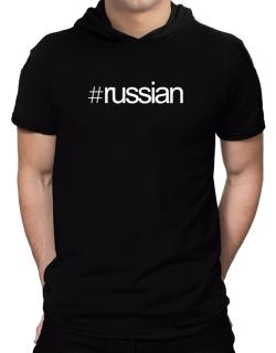Hashtag Russian Hooded T-Shirt - Mens