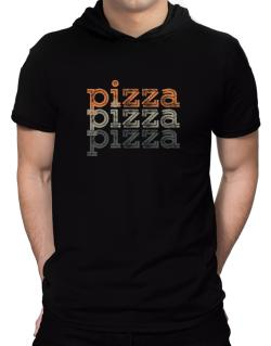 Pizza repeat retro Hooded T-Shirt - Mens