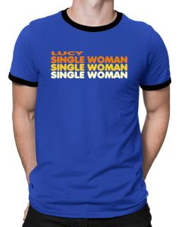 Lucy Single Woman Ringer T-Shirt