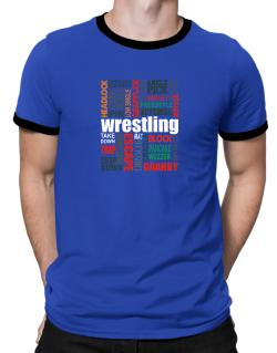 Wrestling Words Ringer T-Shirt