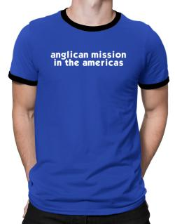 """ Anglican Mission In The Americas word "" Ringer T-Shirt"