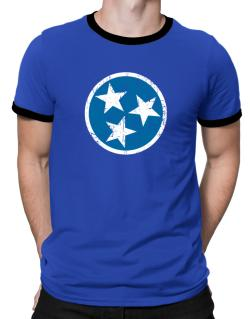 Tennessee Flag Ringer T-Shirt