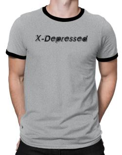 X-depressed Ringer T-Shirt