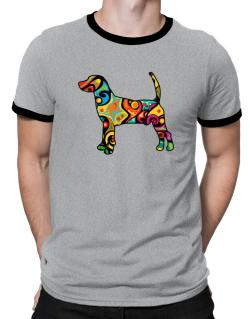 Psychedelic North Country Beagle Ringer T-Shirt