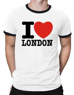 I Love London Ringer T-Shirt