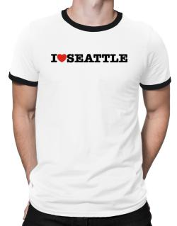 I Love Seattle Ringer T-Shirt