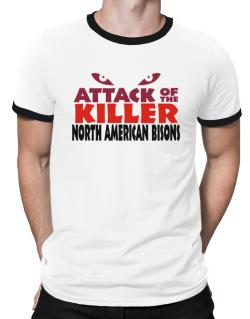 Attack Of The Killer North American Bisons Ringer T-Shirt
