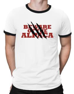 Beware Of The Alpaca Ringer T-Shirt