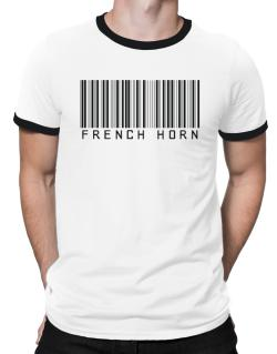 French Horn Barcode Ringer T-Shirt